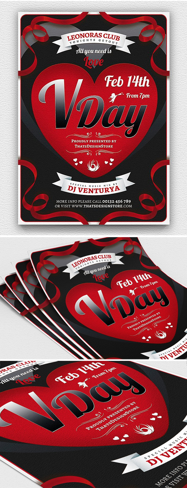 Print Ready Valentines Day Flyer
