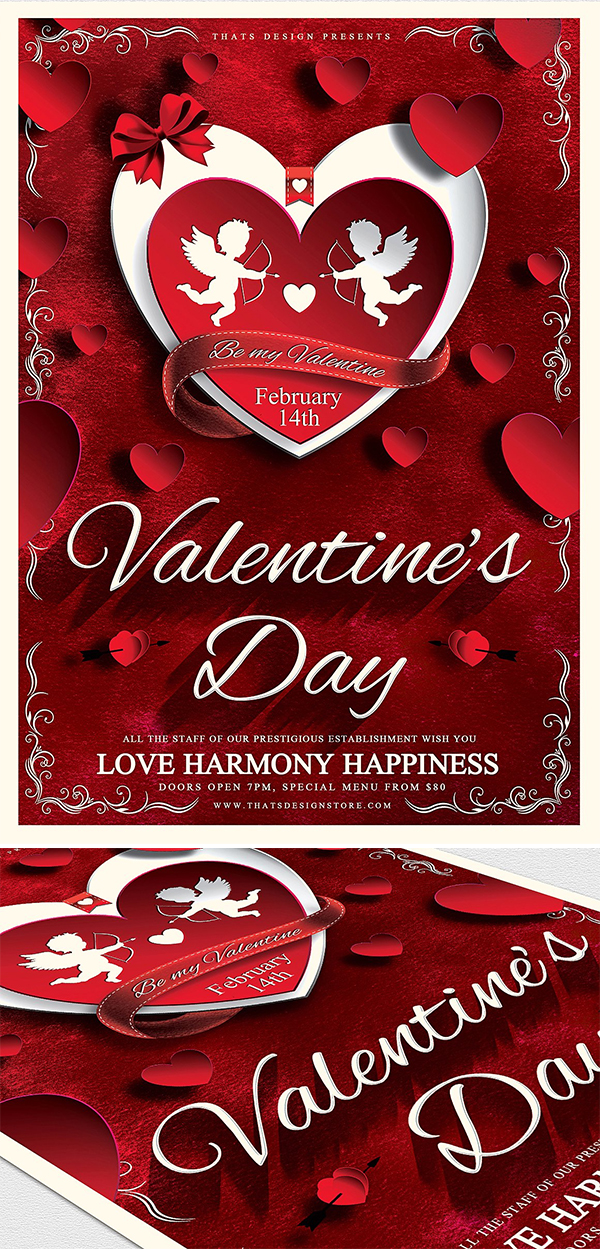 Amazing Valentines Day Flyer Template