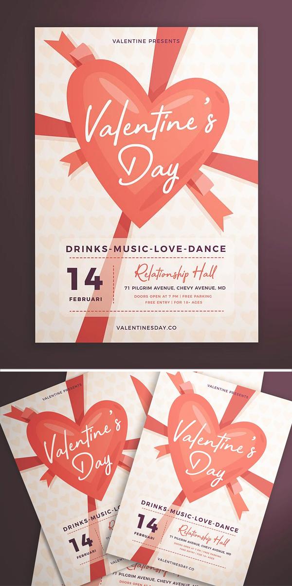 Creative Valentine's Day Flyer