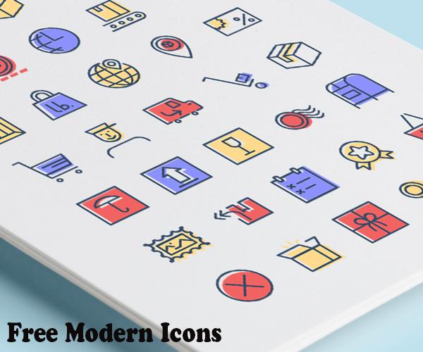 free+modern+icons