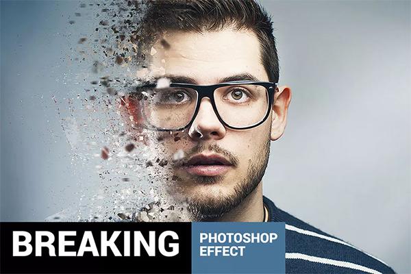 Fragmentum - Digital Breaking Photoshop Action