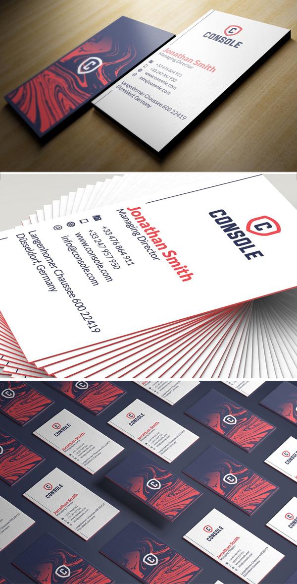 Modern Blue Business Card