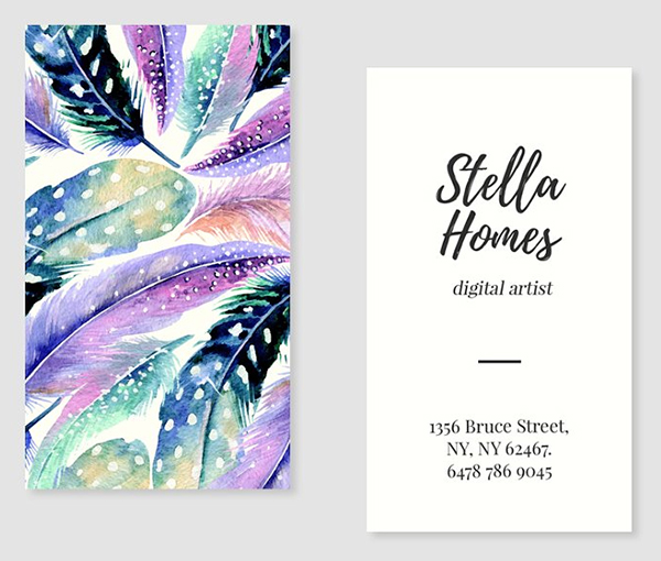 Wild Feathers Business Card Template