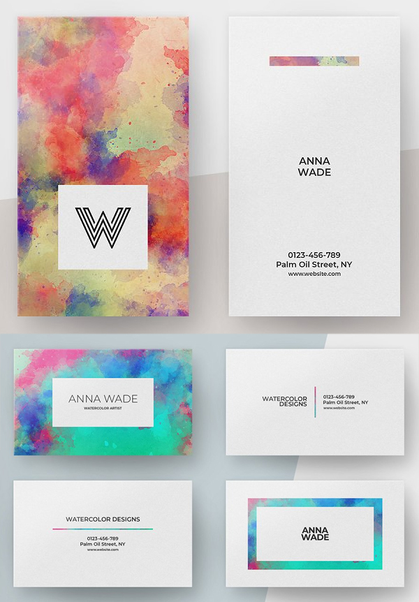 Watercolor Business Card