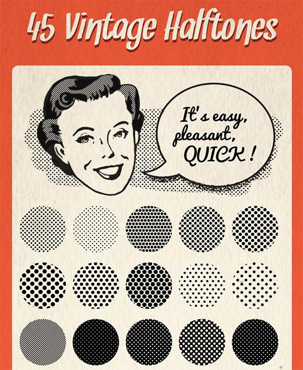 45 Vintage Halftones Pattern