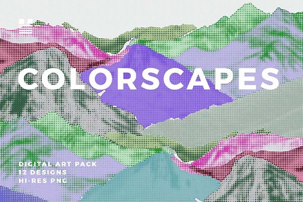 Colorscapes Lite Halftone Backgrounds