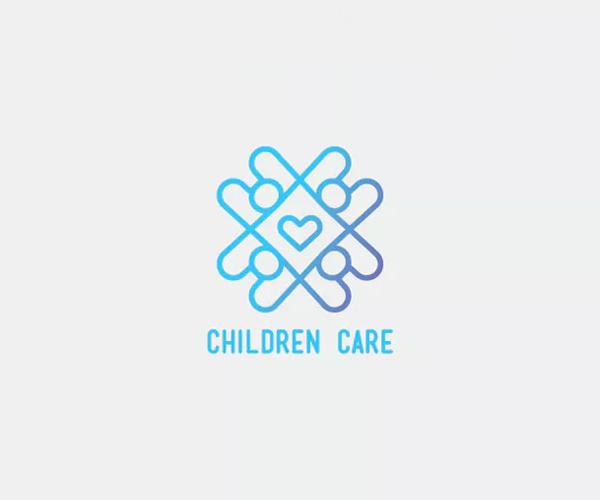 Children Care Logo Template