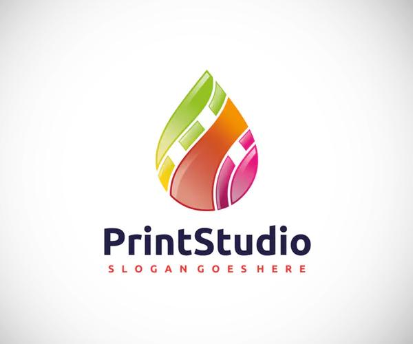 Colorful Drop Logo