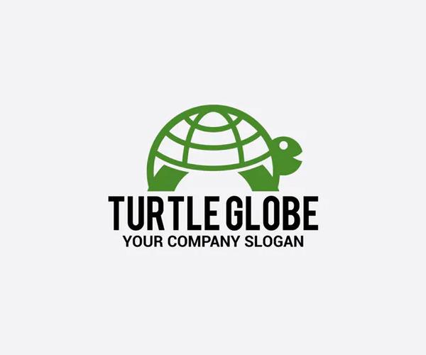 Turtle Globe Logo Design