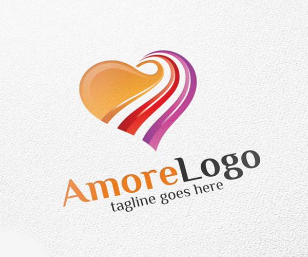 Amore / Heart - Logo Template