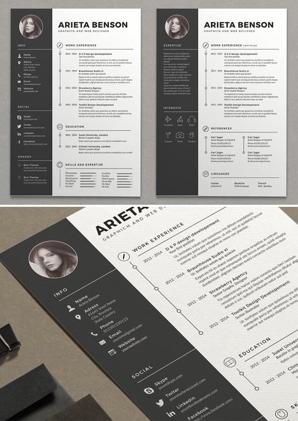 Simple Clean CV Resume