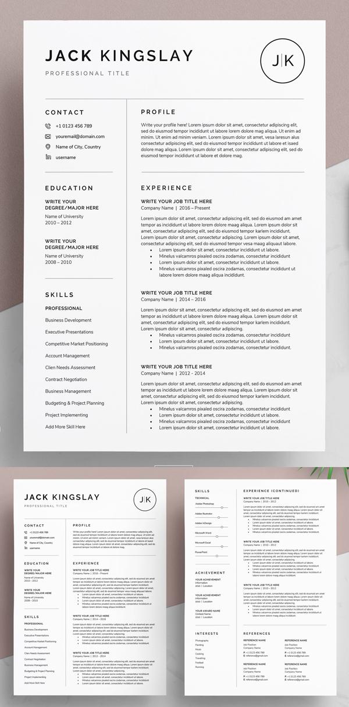 Resume / CV - JK