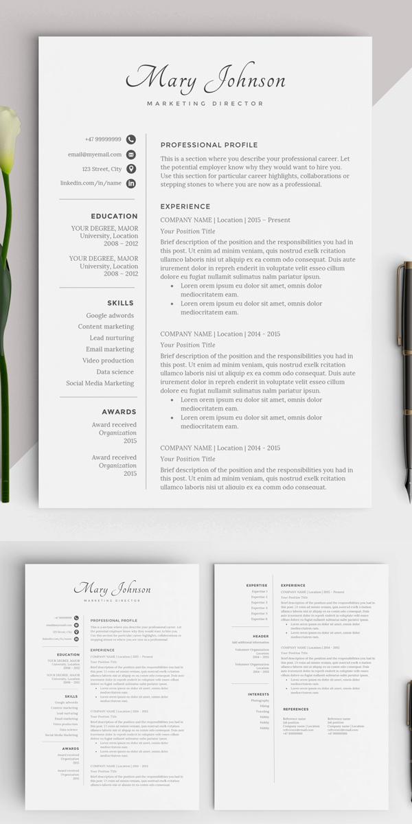 Minimal Resume Template | CV