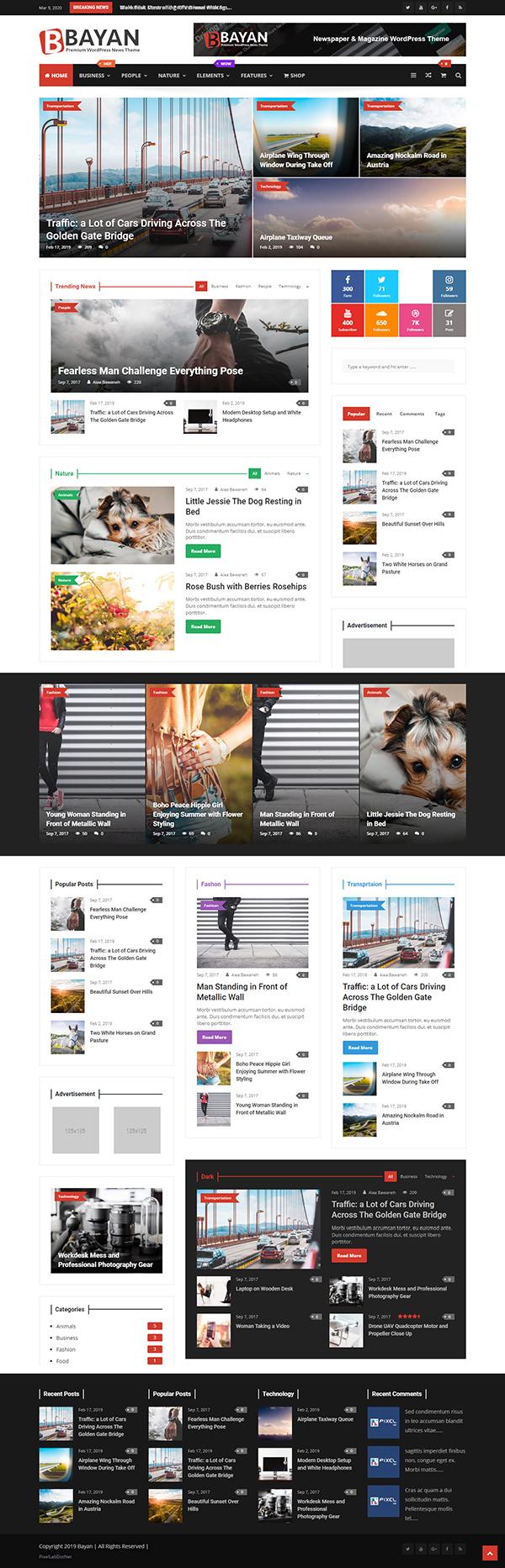 Bayan - Newspaper & Magazine WordPress Theme