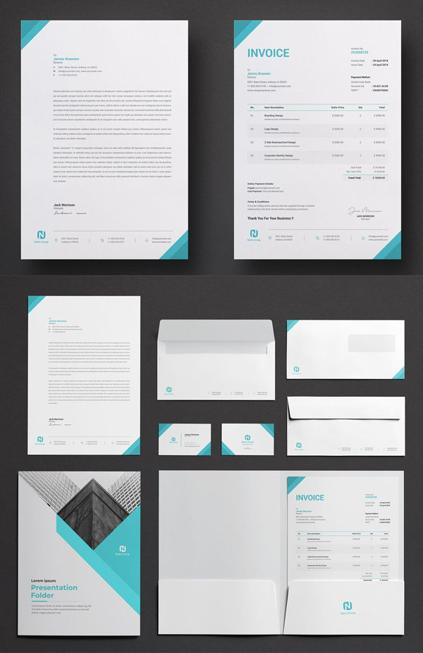 Netro Corporate / Branding Identity Stationary