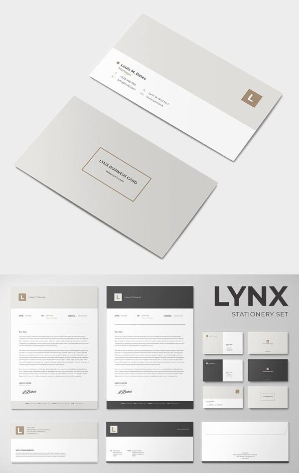Lynx Stationery Set