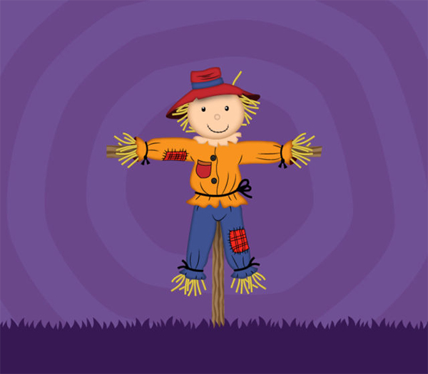 How to Draw a Scarecrow Character in Adobe Illustrator