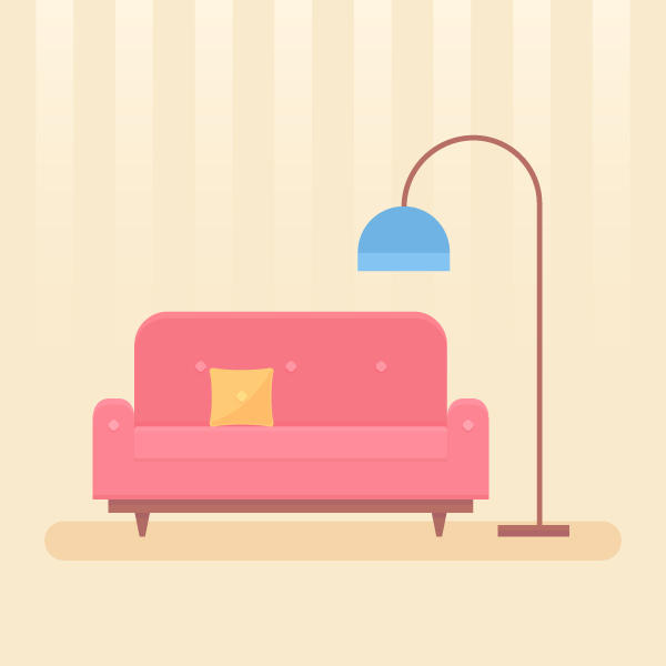 Draw a Cozy Interior Scene in Adobe Illustrator
