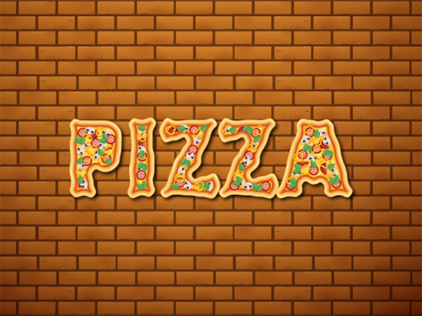 How to Create Pizza text effect