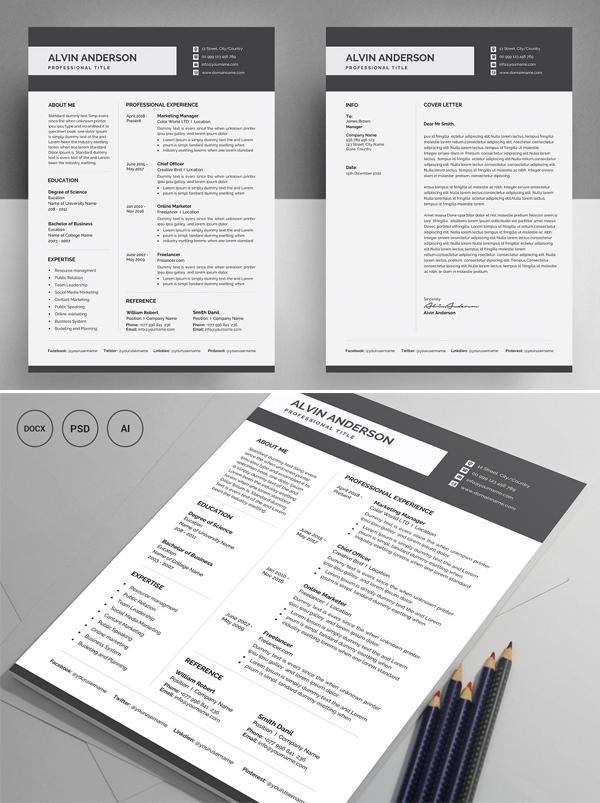 High Quality Resume Template / CV