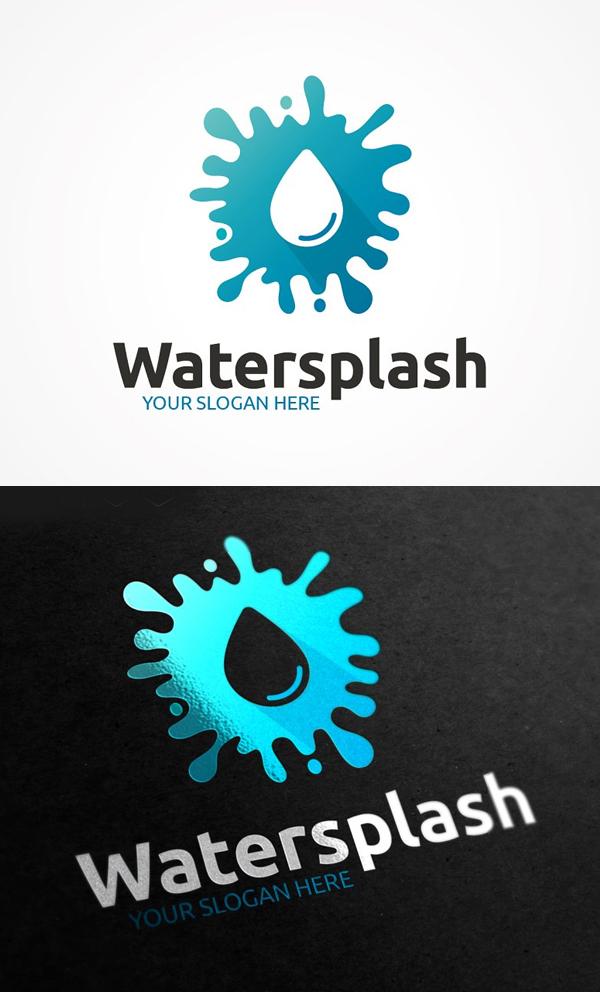 Water Splash Logo Design