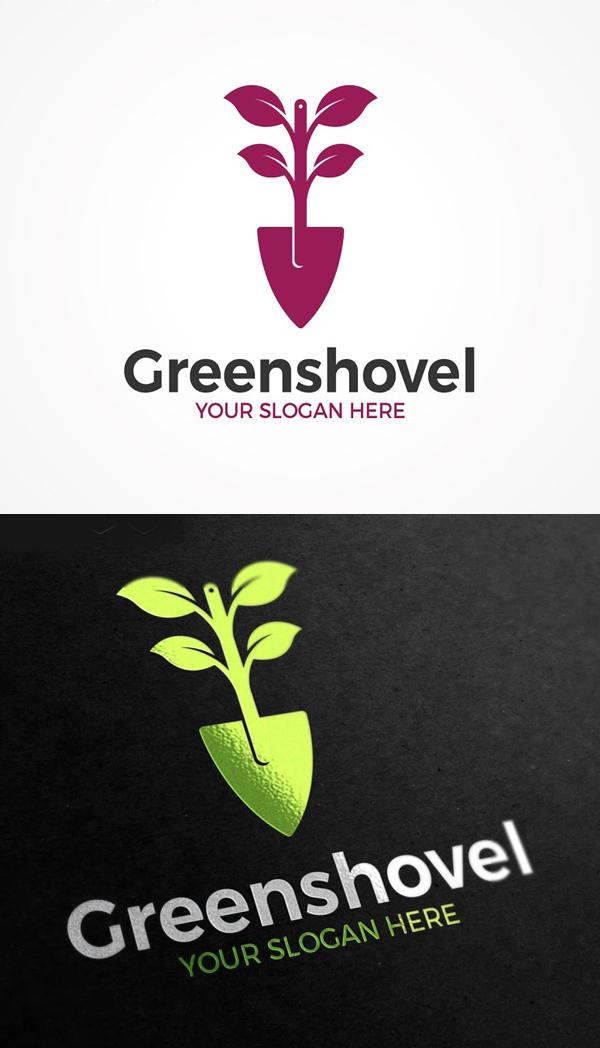 Green Shovel Logo