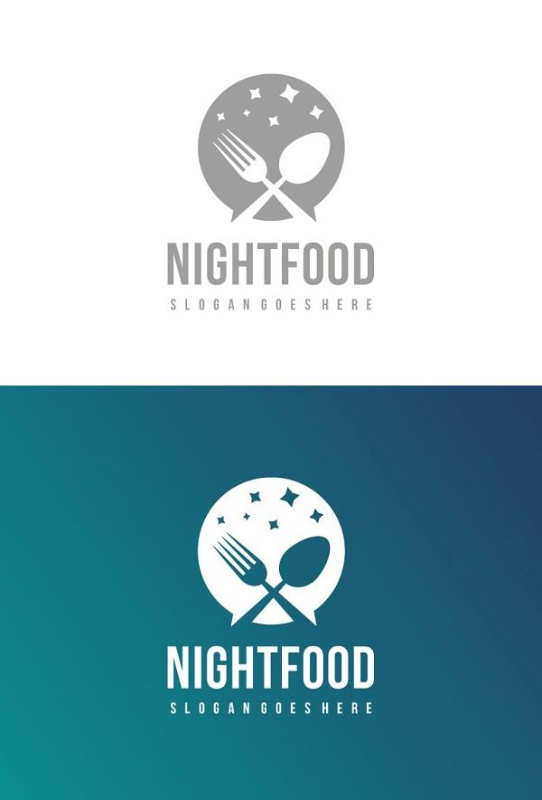 Night Food Logo Design