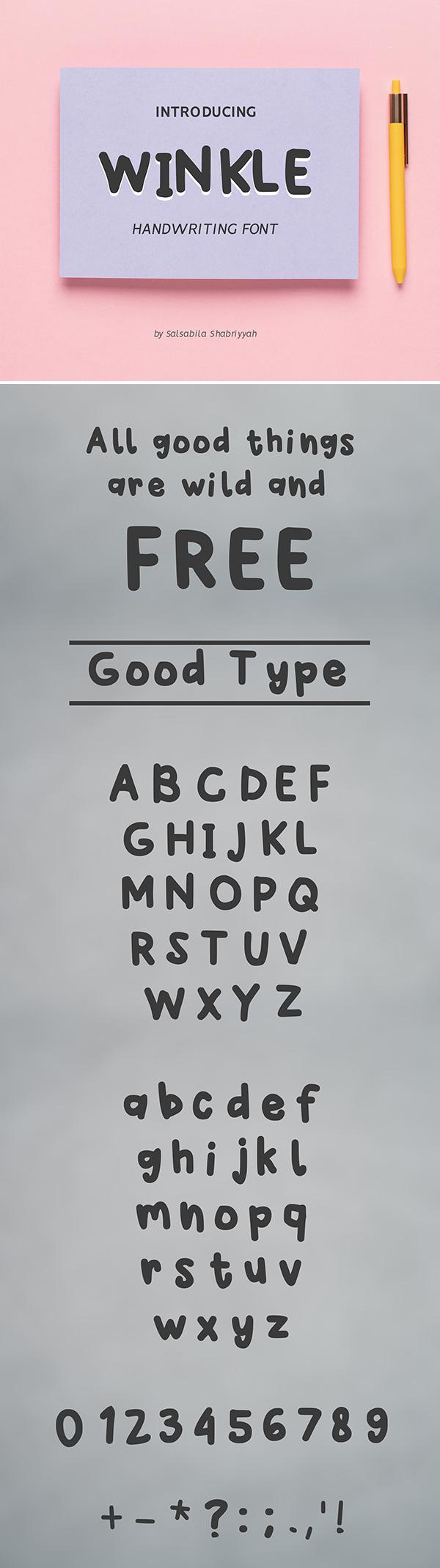 Winkle Handwriting Font