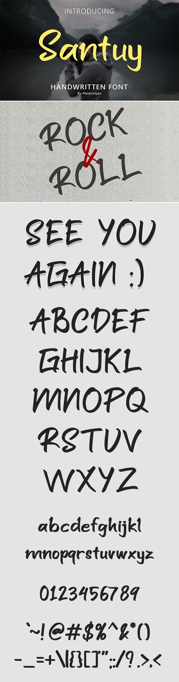 Santuy Handwritten Font