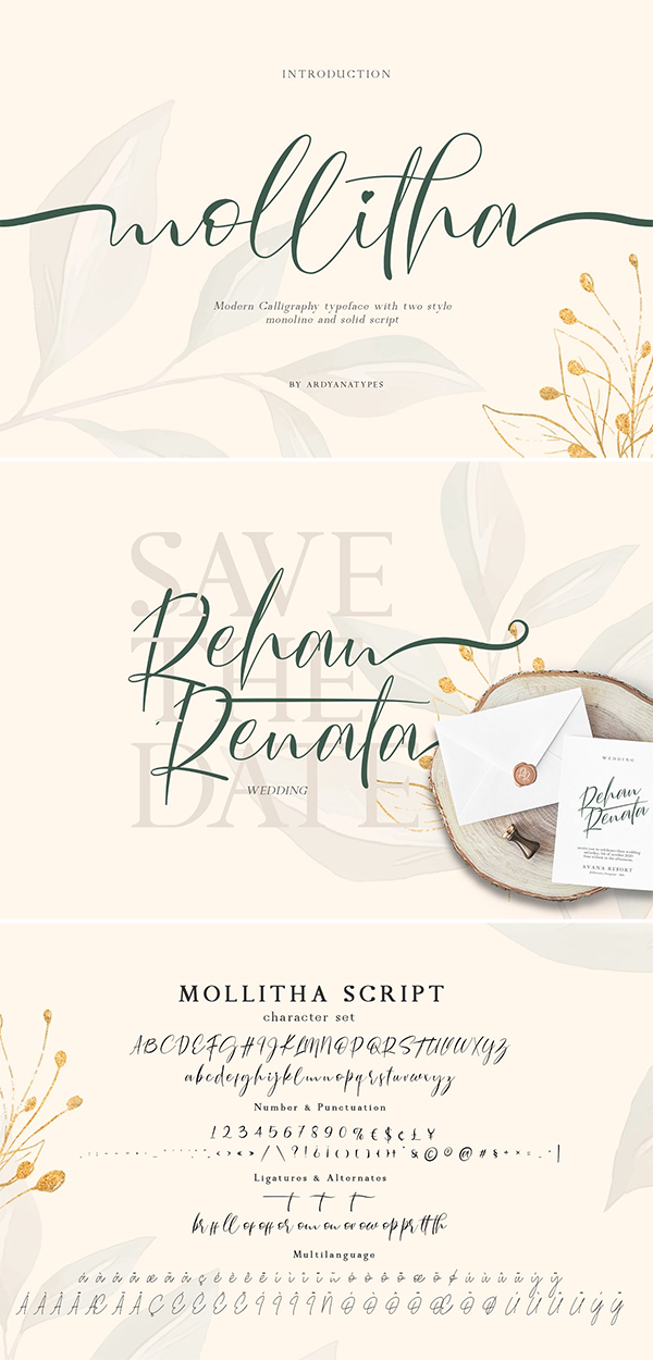 Mollitha Script Font