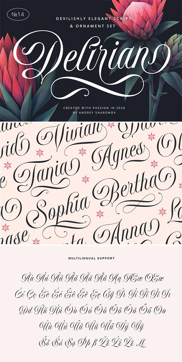 Delirian Script Font
