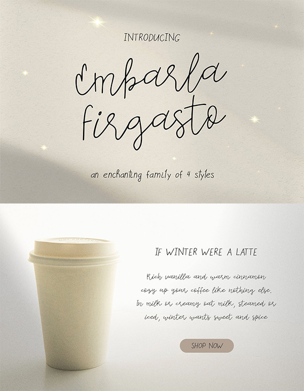 Embarla Firgasto Family Font