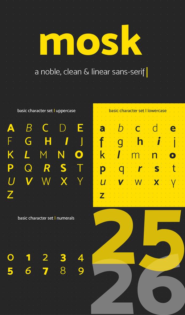 Mosk Sans Serif Free Font