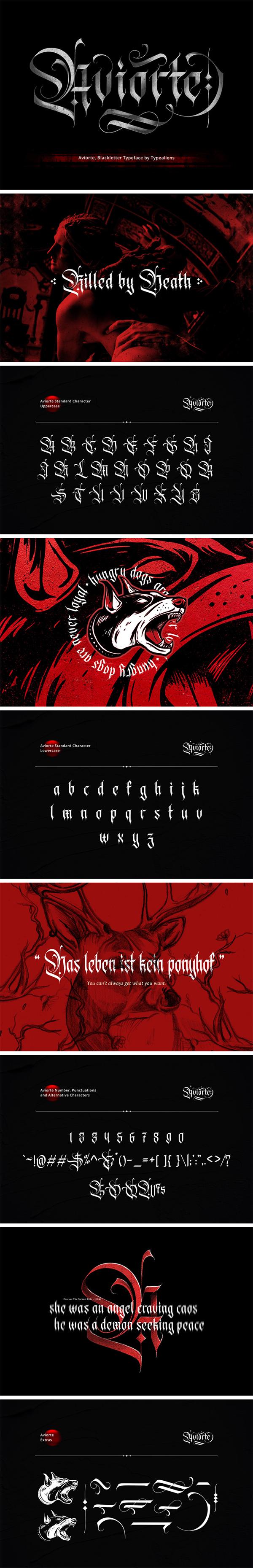 Aviorte Blackletter Free Font