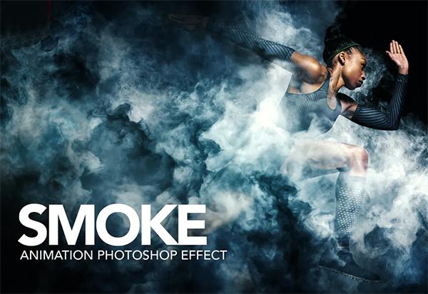 Smoke Animation Photoshop Action