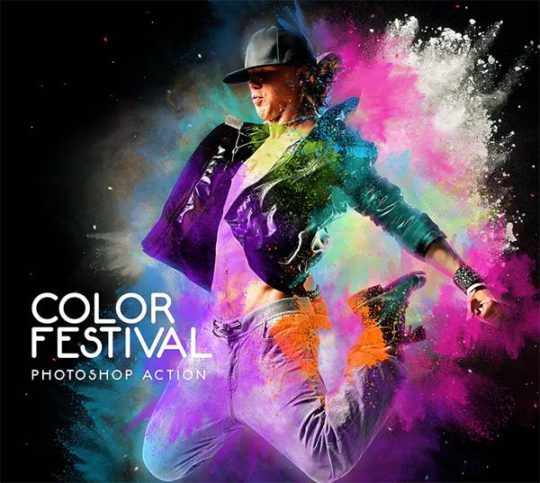 Color Festival Photoshop Action