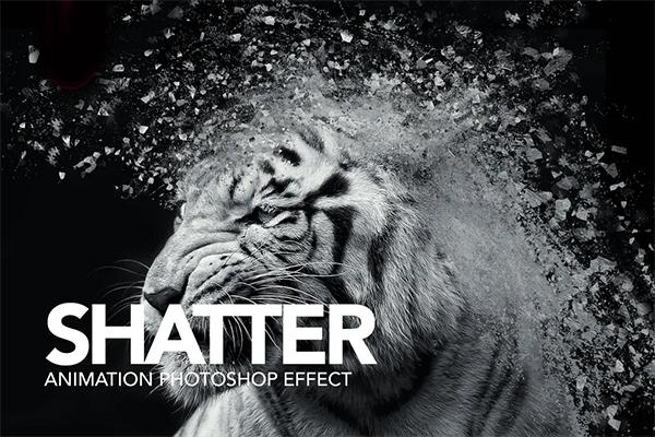 Gif Animated Shatter Photoshop Action