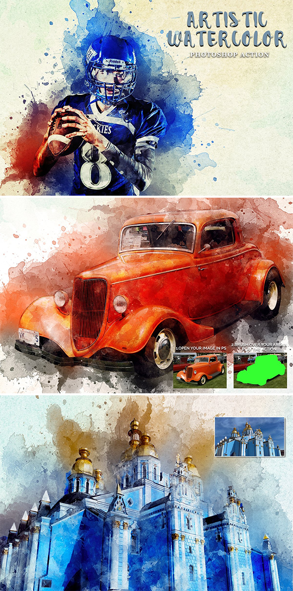 Artistic Watercolor Photoshop Action