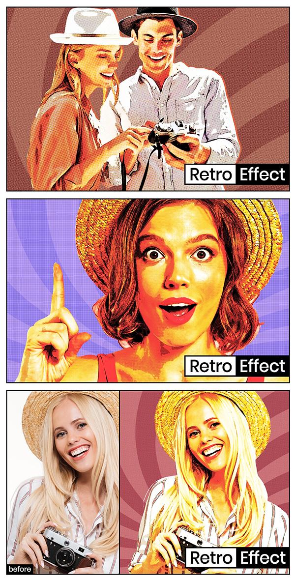Retro Poster Effect