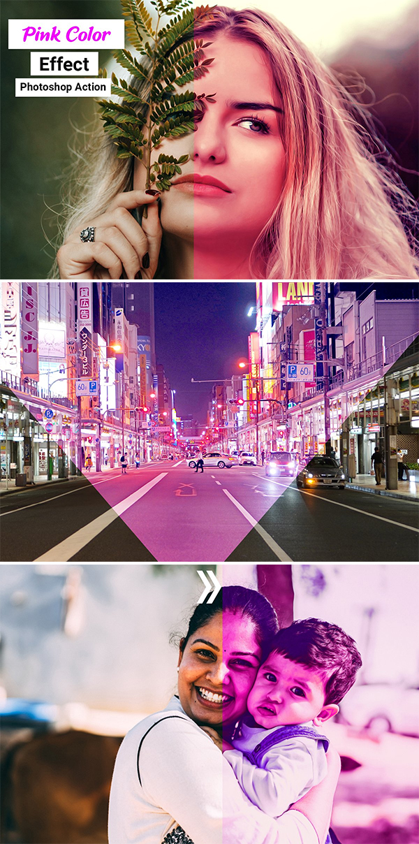 Pink Color Effect Photoshop Action