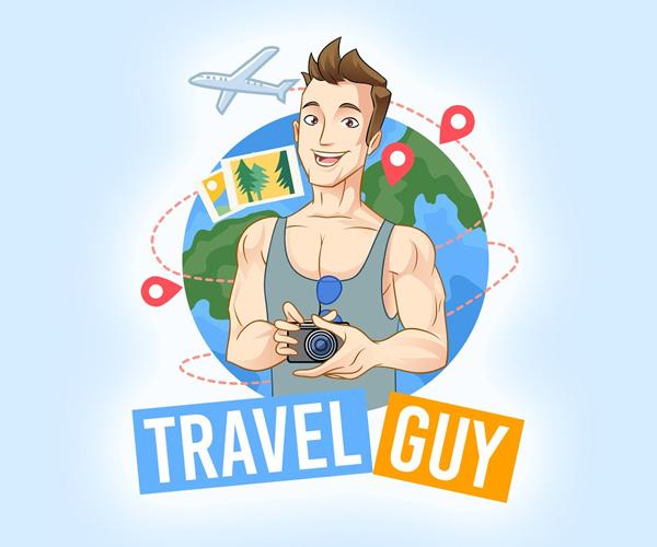 Travel Guy Logo Template