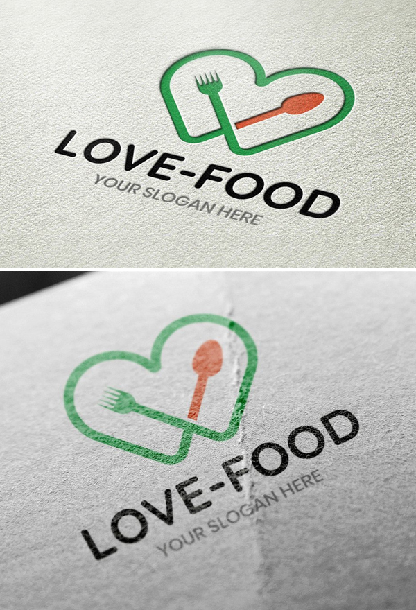 Love Food Logo Template