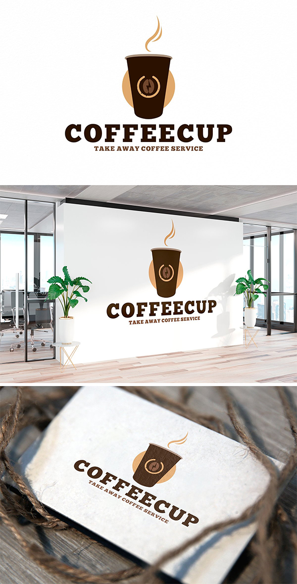 Take Away Coffee Shop Logo Template