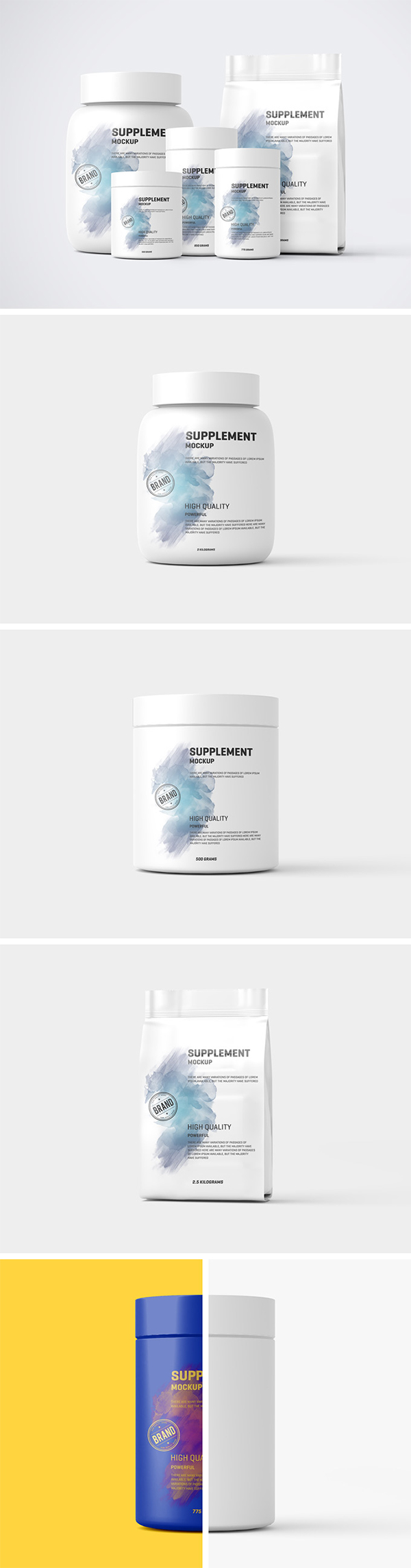 Protein Pack and Jar Mockup