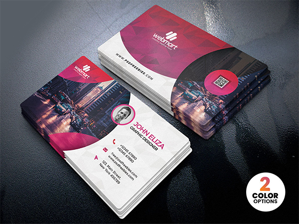 Modern Clean Business Card PSD Templates