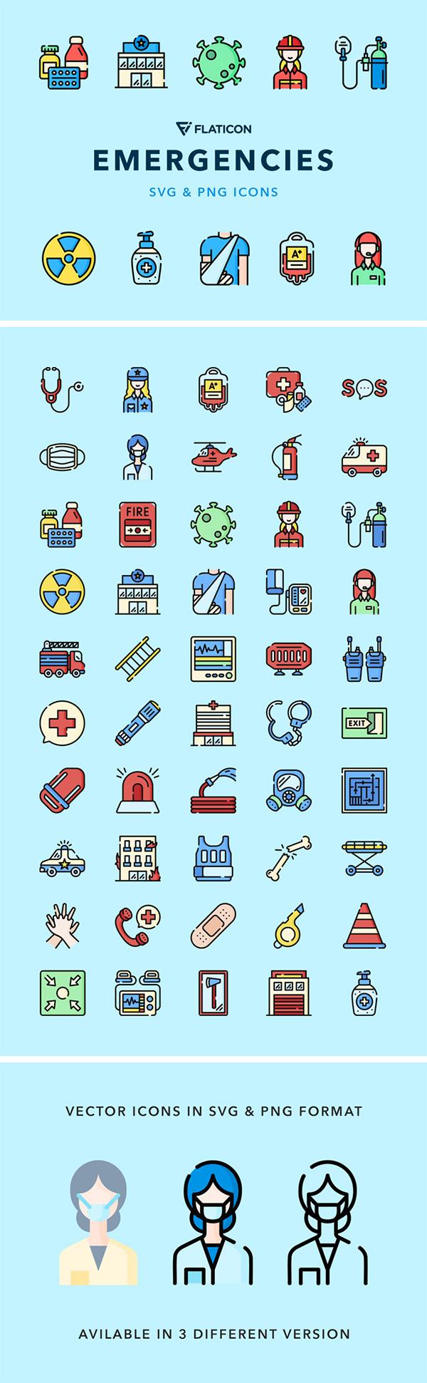 Emergencies Vector Icons