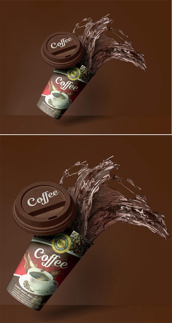 Realistic Paper Cup mockup