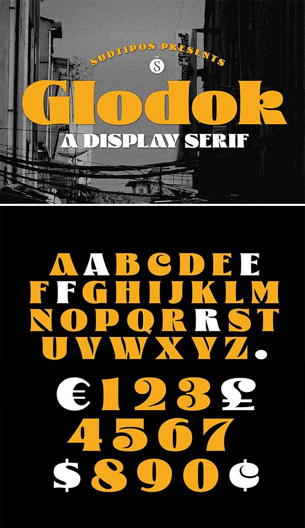 Glodok Display Font
