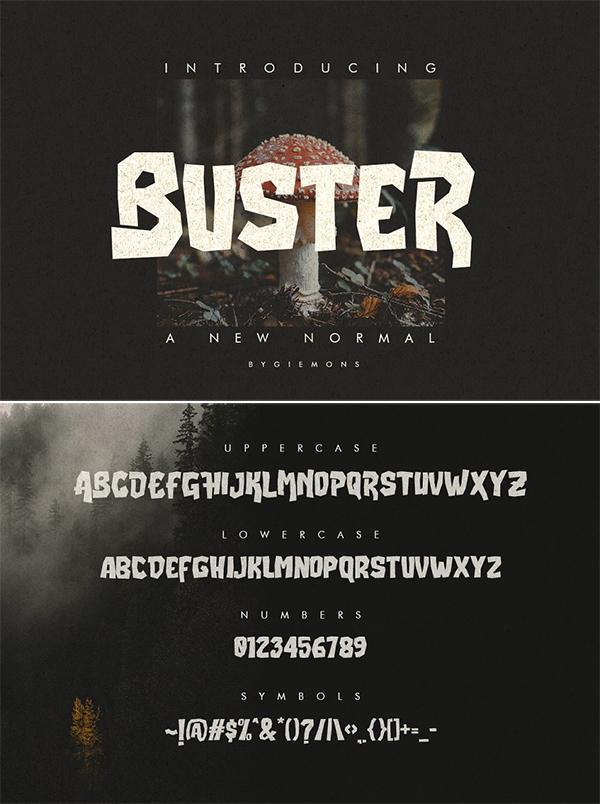 Buster Display Font