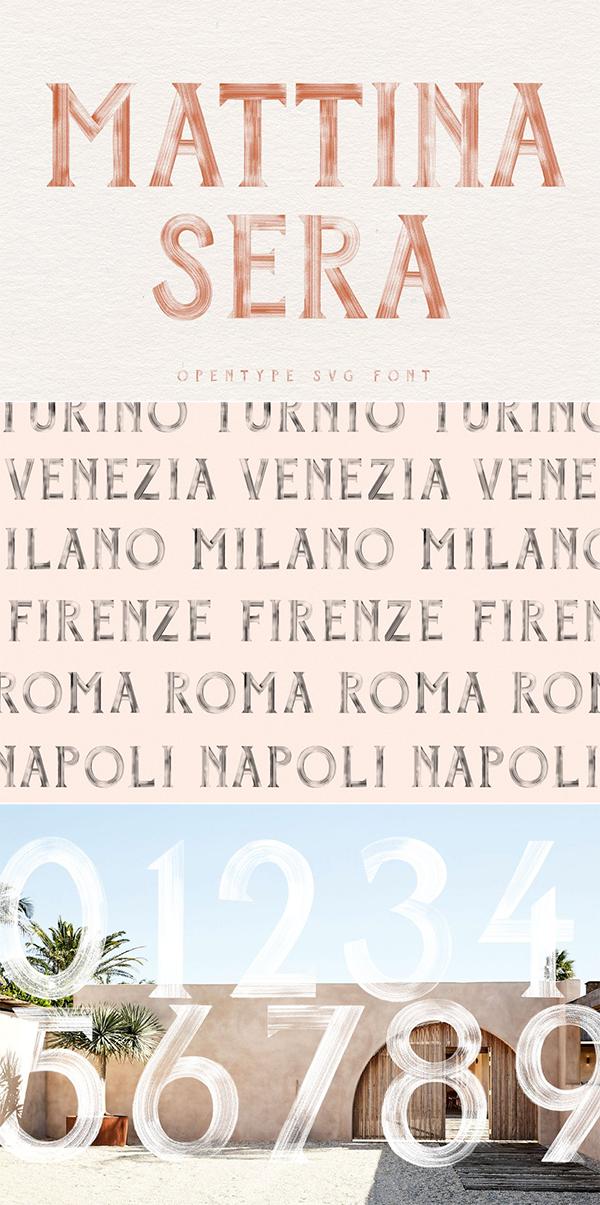 Mattina Sera SVG Font